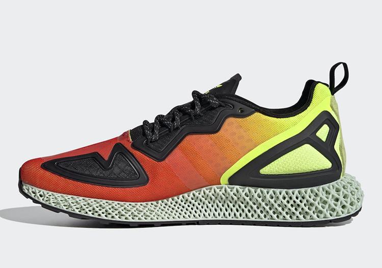 橙黄渐变配色热情十足!这双 adidas ZX 2K 4D 你打几分?