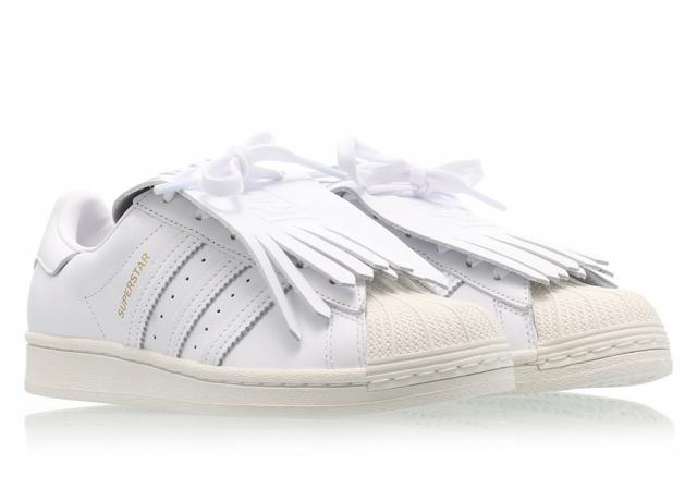 复古流苏造型!贝壳头 Superstar 小白鞋迎来全新升级!