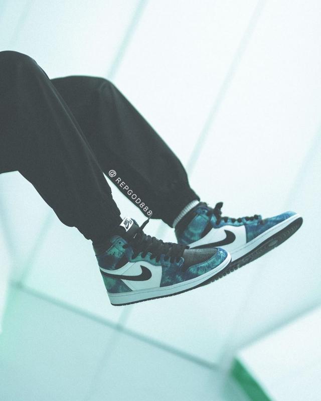 扎染 Air Jordan 1 上脚抢先看!神仙颜值,你说香不香!