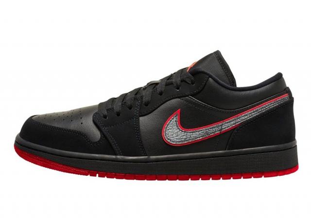 银红 Swoosh 有点特别!这双小黑鞋 AJ1 Low 即将发售