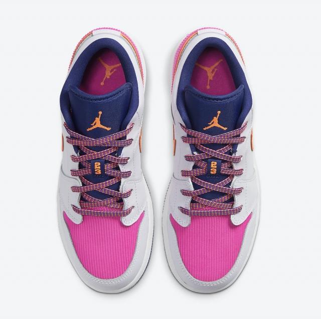 彩色灯芯绒点缀!Air Jordan 1 Low 新配色即将发售