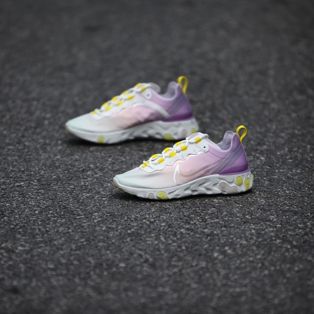 亮眼渐变鞋面!全新配色 Nike React Element 55 实物曝光!