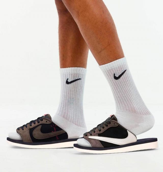 从未见过的拖鞋版「反钩 AJ1」!看完好想要!