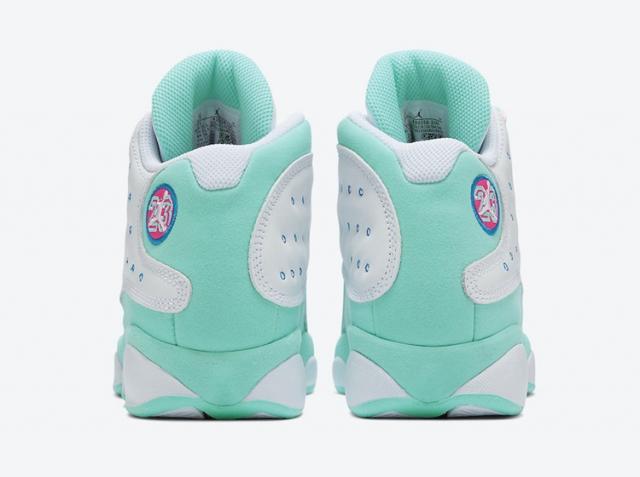 """男鞋头只能酸了!Air Jordan 13 """"Aurora Green"""" 官图释出!"""
