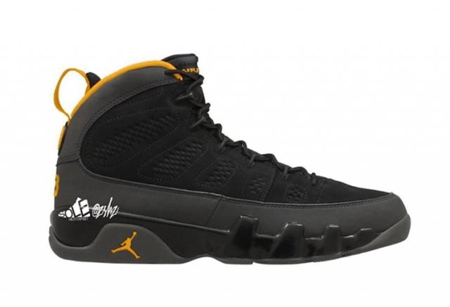 黑黄配色 Air Jordan 9 效果图释出!传闻明年发售!