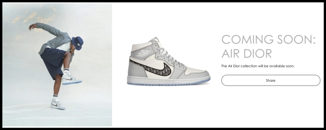 Dior x AJ1 官网发售信息更新!竟然还有特殊鞋盒版本!