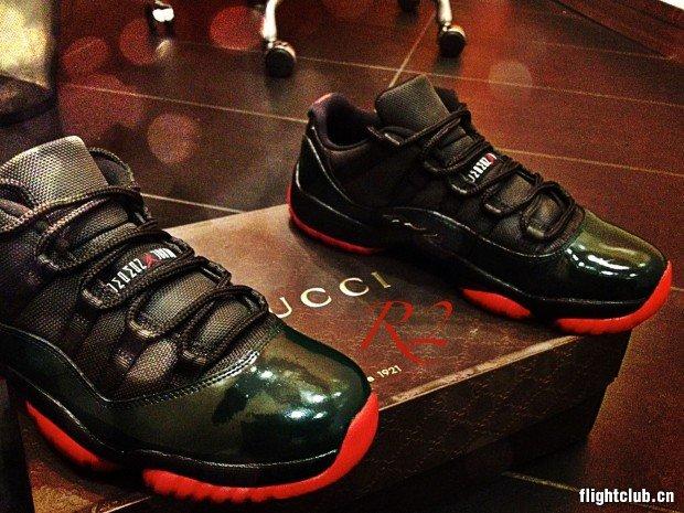 Air Jordan 11 Low Gucci Inspired Custom