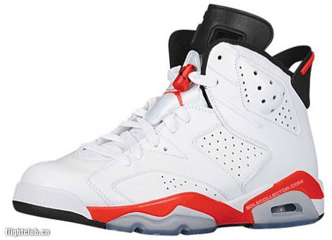 """乔丹2014复刻_AIR JORDAN 6 """"红外线"""" 2014年初复刻 AJ6 White Infrared 384664-123 球鞋 ..."""