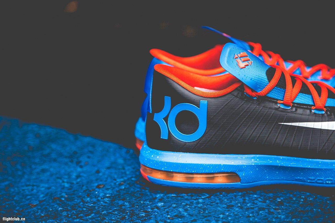 这款雷霆客场配色的 Nike KD6 已经发售,采用了雷霆的 ...
