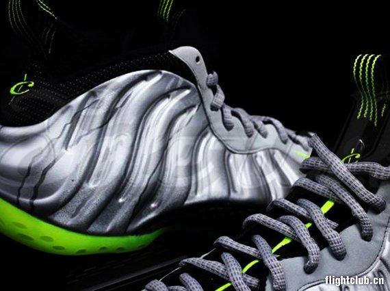 nike air foamposite one silver black neon Nike Air Foamposite One   Silver   Black   Neon