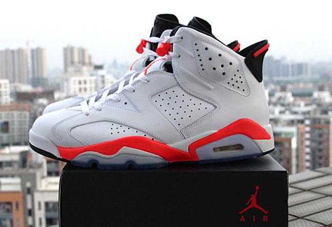 """... 线384664-123 Air Jordan 6 """"Infrared/激光红"""" 高清美图欣赏"""