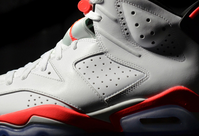 """乔丹2014复刻_Air Jordan 6 """"White Infrared"""" 更多实物图片 AJ6激光红 球鞋资讯 ..."""