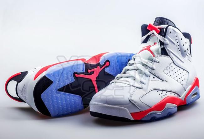 """乔丹2014复刻_Air Jordan 6 """"White Infrared"""" 更多实物实拍欣赏 AJ6樱木 球鞋资讯 ..."""
