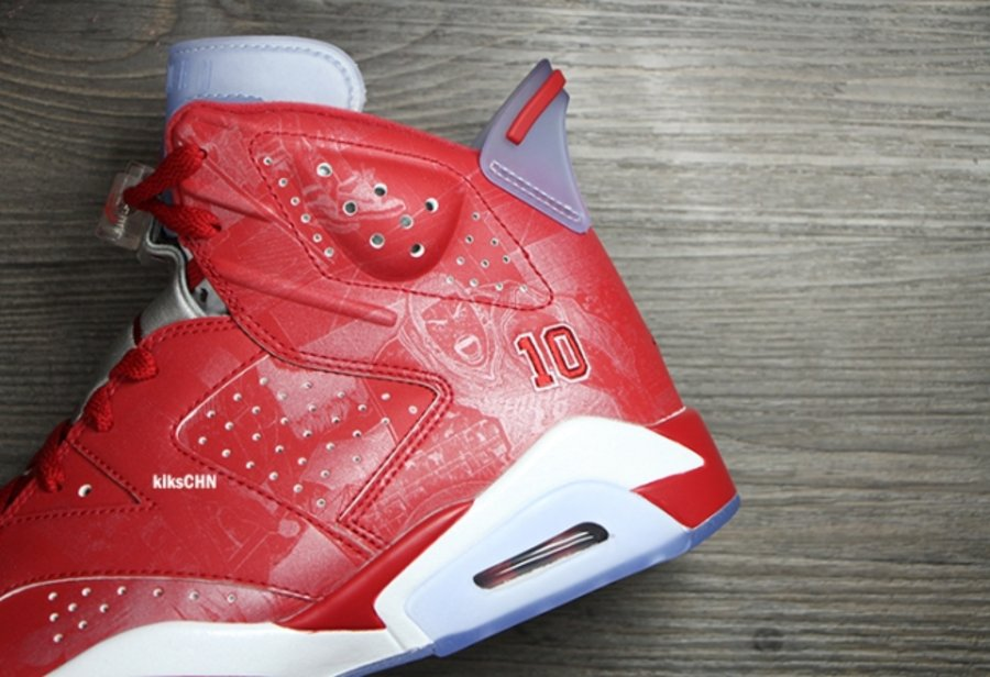 "online store c5e9a cd4aa Air Jordan 6 ""Slam Dunk"" 灌篮高手高清图赏717302-600 AJ6樱木 ..."