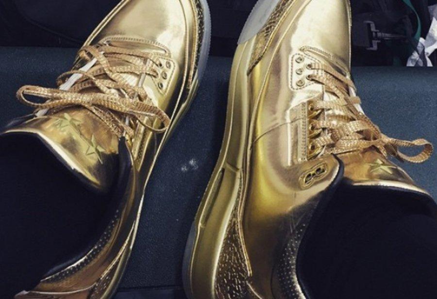 "AJ3,Air Jordan 3 AJ3 凯里欧文网晒 Air Jordan 3 ""Gold"" PE"