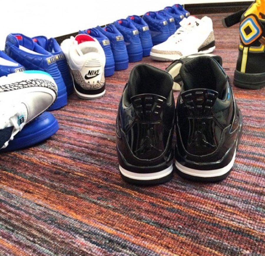 11Lab4,AJ4,Air Jordan 4 AJ4 Air Jordan 11Lab4 黑色漆皮配色更多实物