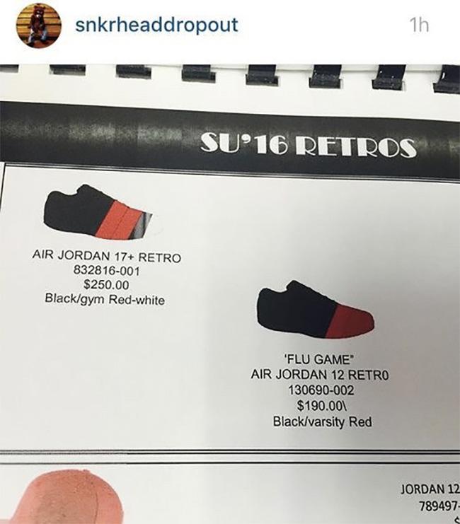 """130690-002,AJ12,Air Jordan 12 130690-002 Air Jordan 12 """"Flu Game"""" 复刻信息再度确认"""