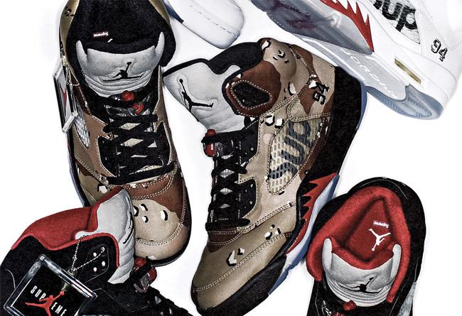 824371-001,AJ5,Air Jordan 5,Su 824371-001/101/201 Supreme x Air Jordan 5 下周登陆 Nike.com 发售