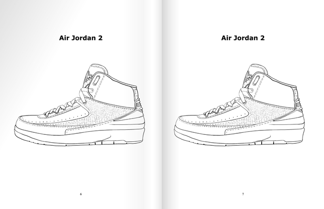 sneakerhead coloring book pages | 玩转色彩,《Sneakerhead Coloring Book》 现已上市 球鞋资讯 FLIGHTCLUB中文站 ...