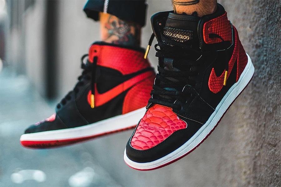 """AJ1,Air Jordan 1,Nike,555088-0 AJ1 你还没见过的蟒蛇纹 Air Jordan 1 """"Banned"""""""