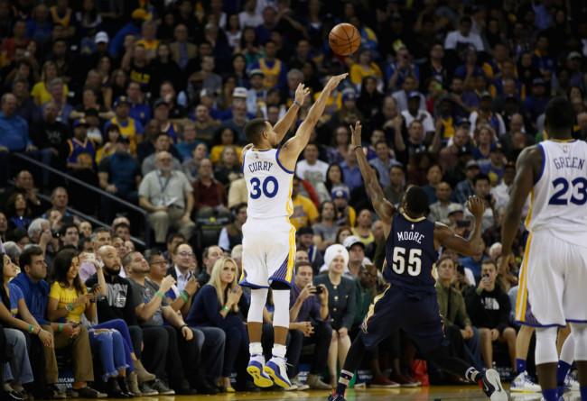 库里,杀神,今日,NBA,常规赛,金州,勇士,队,主场,  日天再创三分记录!库里开启杀神模式!