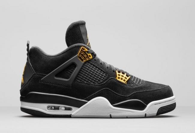 "AJ4,Air Jordan 4  黑金人气款式 Air Jordan 4 ""Royalty"" 将以全家族尺码发售"