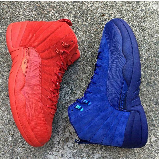 """AJ12,Air Jordan 12  鸳鸯的最佳选择!Air Jordan 12 """"Red Suede"""" 实物图欣赏"""