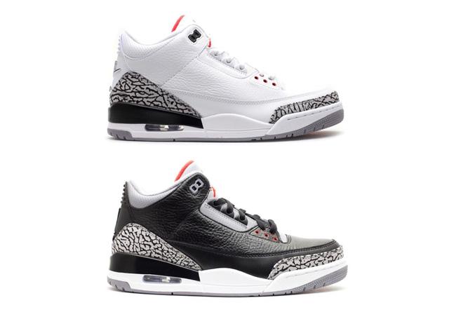 AJ3,Air Jordan 3  Air Jordan 3 要放大招了!黑白水泥配色之一年底回归!