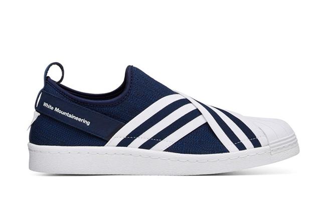 adidas,White Mountaineering,Su  个性清新!White Mountaineering x Superstar Slip-On 现已发售
