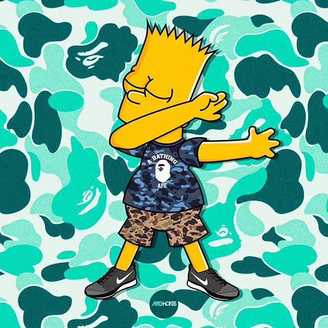 Machonis as well The Simpsons 7002 together with 759630662117817858 likewise 10940192 furthermore 35463. on simsons bart with bape wallpaper