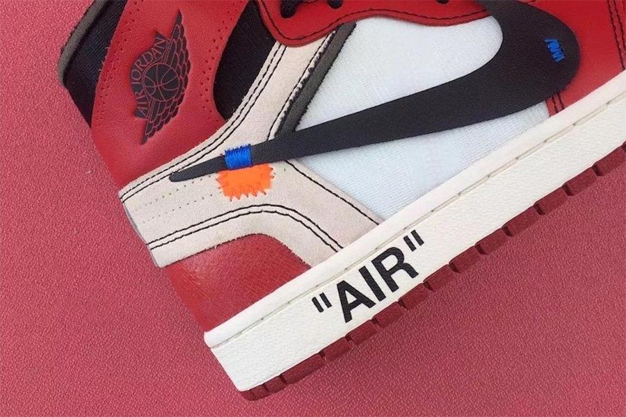 AJ1,Air Jordan 1,Off-White AJ1 细节丰富!OFF-WHITE x Air Jordan 1 完整清晰曝光!