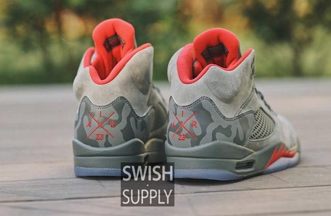 """Air Jordan 5,Camo,AJ5,136027-0  暗藏玄机!提前感受 Air Jordan 5 """"Camo"""" 的上脚魅力"""