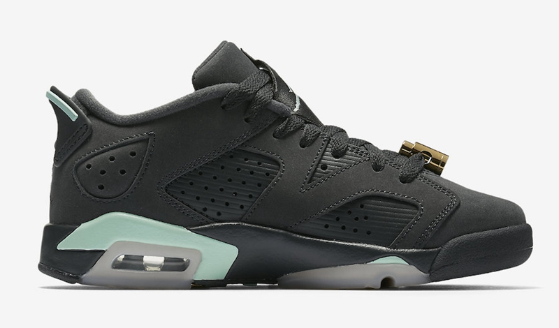 "Air Jordan 6 Low,GS,Mint Foam,  金属扣加持!Air Jordan 6 Low GS ""Mint Foam"" 本周登场"