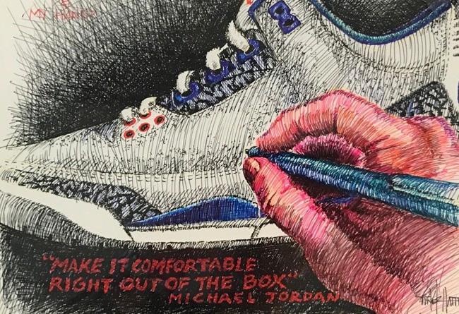 AJ3,Air Jordan 3 AJ3 真蓝 Air Jordan 3 拍卖成交价近 3W 元!不过成交的不是球鞋