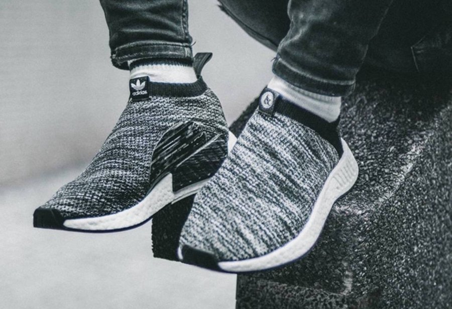 UNITED ARROWS & SONS,adidas,NM  经典撞色!UNITED ARROWS x adidas NMD CS2 上脚效果不俗