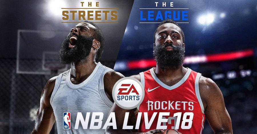 哈登  詹姆斯·哈登成为 NBA Live 18 游戏封面人物