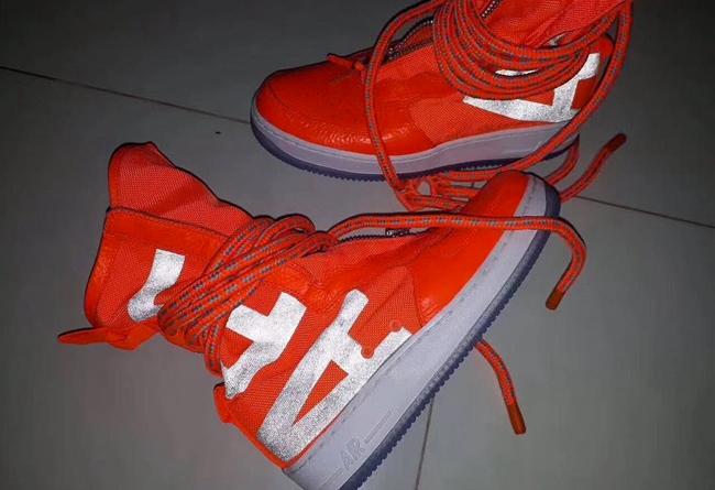 纏繞鞋帶 + 超長拉鏈!新款 sf-af1 high 上腳你給打幾圖片