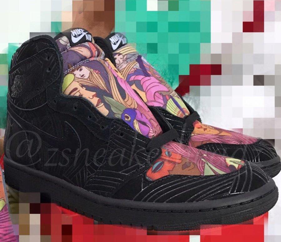 Air Jordan 1,Los Primeros  彩色涂鸦 + 镭射鞋身!这款 Air Jordan 1 你给打几分?