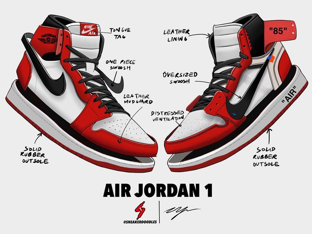 Air Jordan  Shoes Drawing