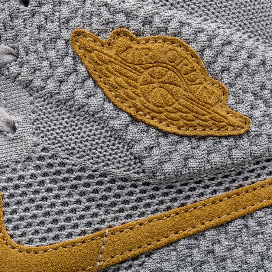 AJ1,Air Jordan 1,919704-025  小麦色细节!全新配色 Air Jordan 1 Flyknit 十一月发售