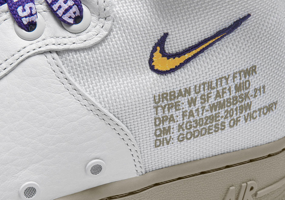 Nike,SF-AF1Mid  湖人队配色!限量款 Nike SF-AF1Mid 专为洛杉矶打造
