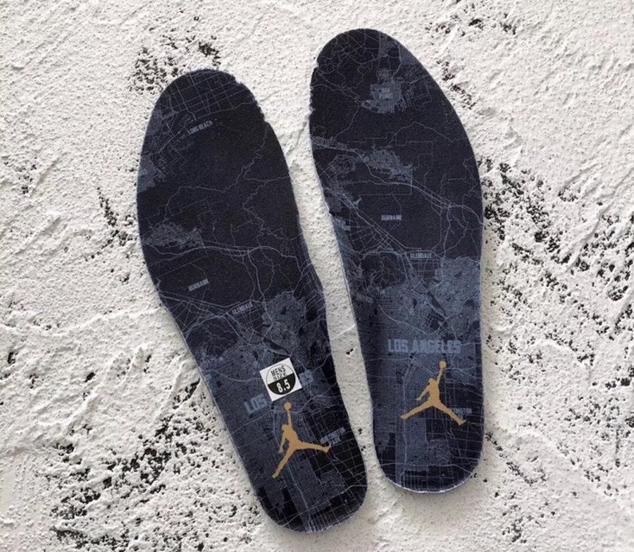 "Air Jordan 9,LA,AJ9,302370-021  洛杉矶地图是亮点!全明星配色 Air Jordan 9 ""LA"" 实物近赏"
