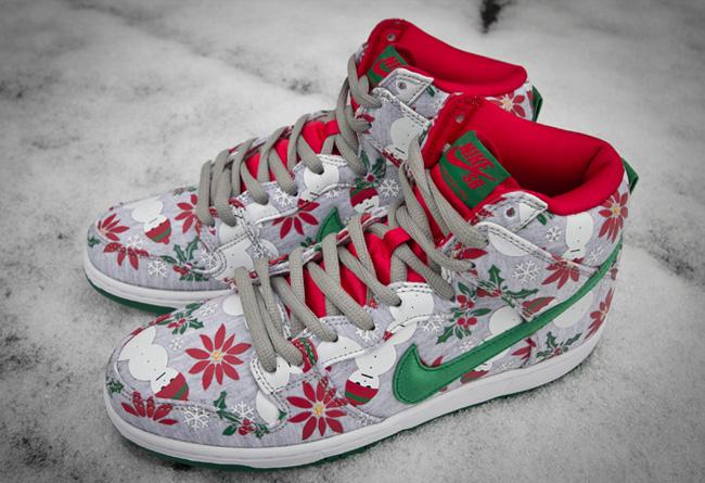 Concepts,Nike SB,Nike,Dunk,Ugl  圣诞主题降临!Concepts x Nike Dunk SB Hi 实物曝光!