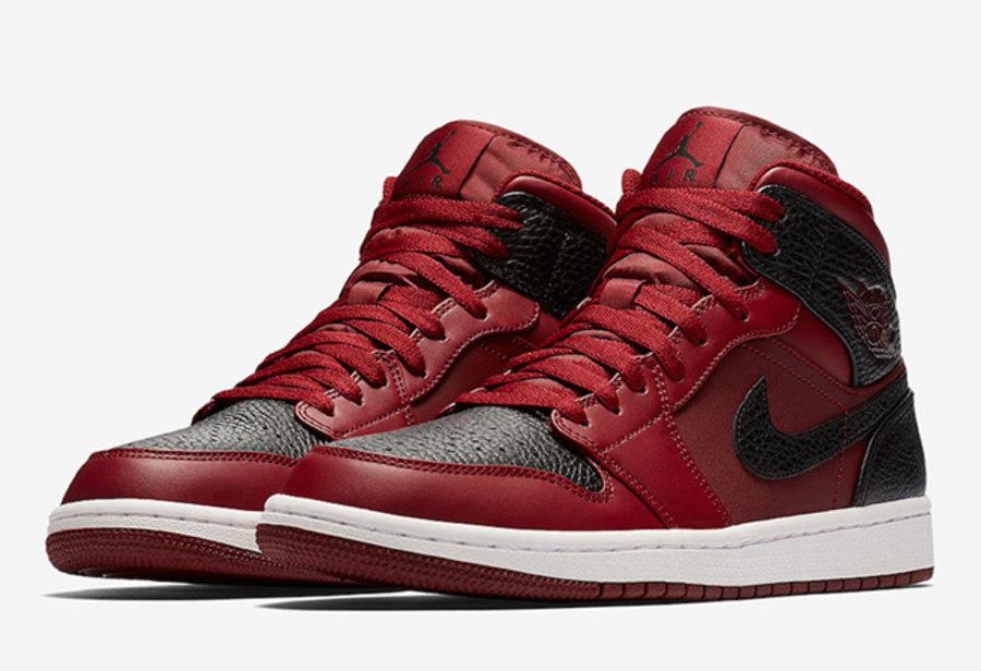 Air Jordan 1 Mid,Reverse Banne  反转黑红禁穿配色!Air Jordan 1 Mid 将于近期登场