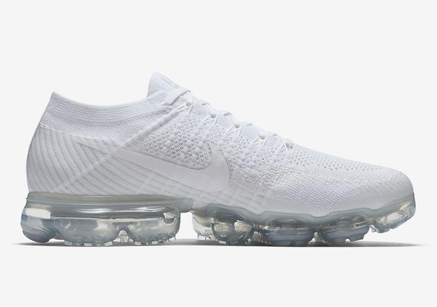 """Nike,Air VaporMax,849558-100  洁白无暇!Nike Air VaporMax """"Triple White""""本月底发售"""