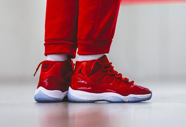"""AJ11,Air Jordan 11,378037-623  喜庆中国红! Air Jordan 11 """"Win Like '96"""" 明日官网上架"""