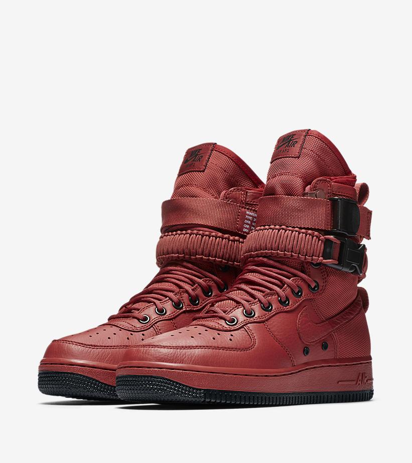 Nike,SF-AF1,857872-600  暗红色笼罩!全新配色 SF-AF1 明早 9 点上架!