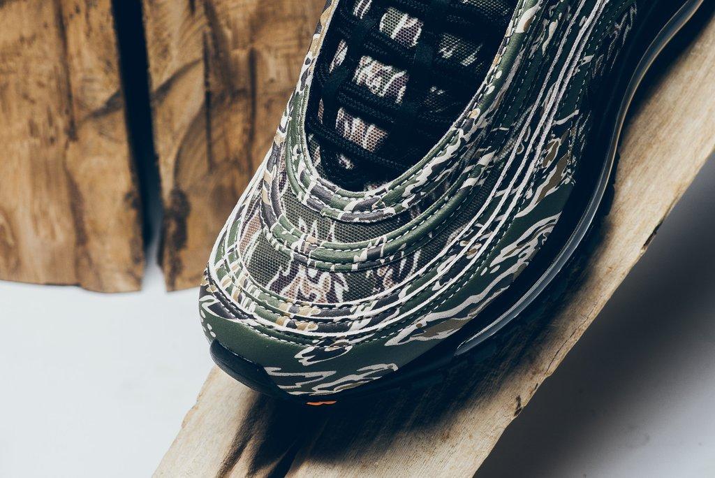 """AJ2614-205,Air Max 97,Nike AJ2614-205 虎纹迷彩爱好者的最爱!Air Max 97 """"USA"""" 即将发售"""