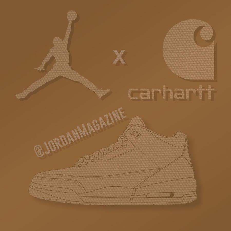 三十,周年,力作,Carhartt,Air,Jordan,联  三十周年力作!Carhartt x Air Jordan 3 联名消息曝光