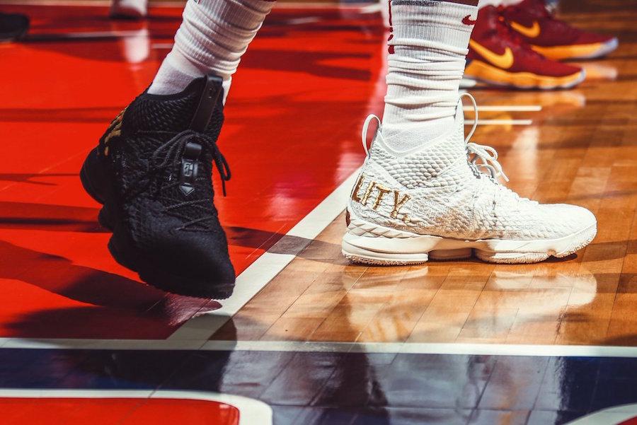 Nike,LeBron 15  黑白鸳鸯!詹姆斯上脚的 LeBron 15 值得关注!